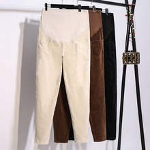 Corduroy Maternity Pants Solid Color Clothes for Pregnant Women Autumn Casual Harem Pregnancy