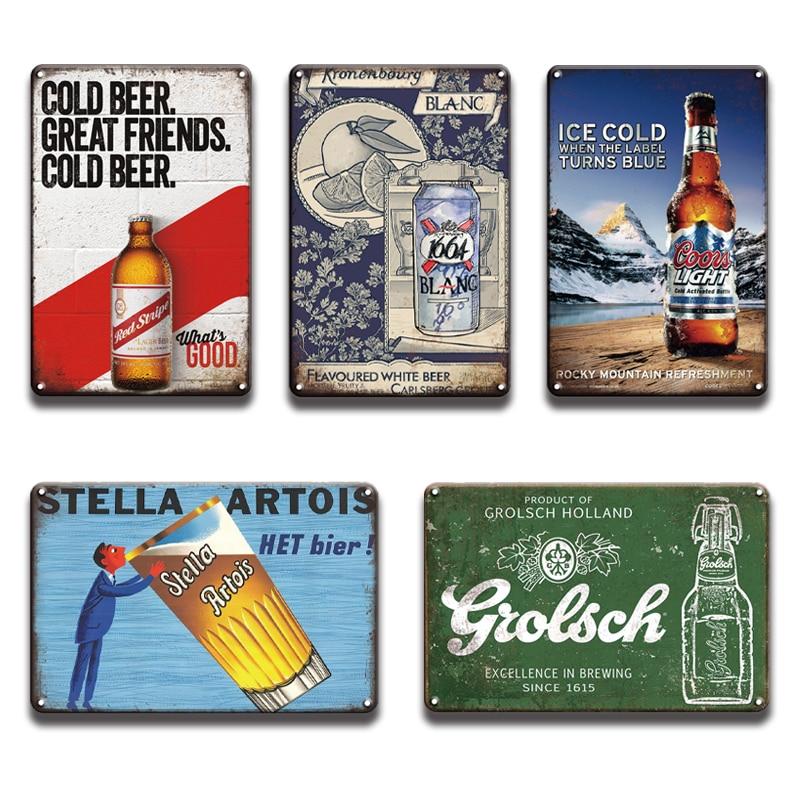 Corona Extra Miller Lite cartel de Metal lata Vintage cerveza Bar placa para Pub Metal signo hombre cueva restaurante decoración de pared habitación signos