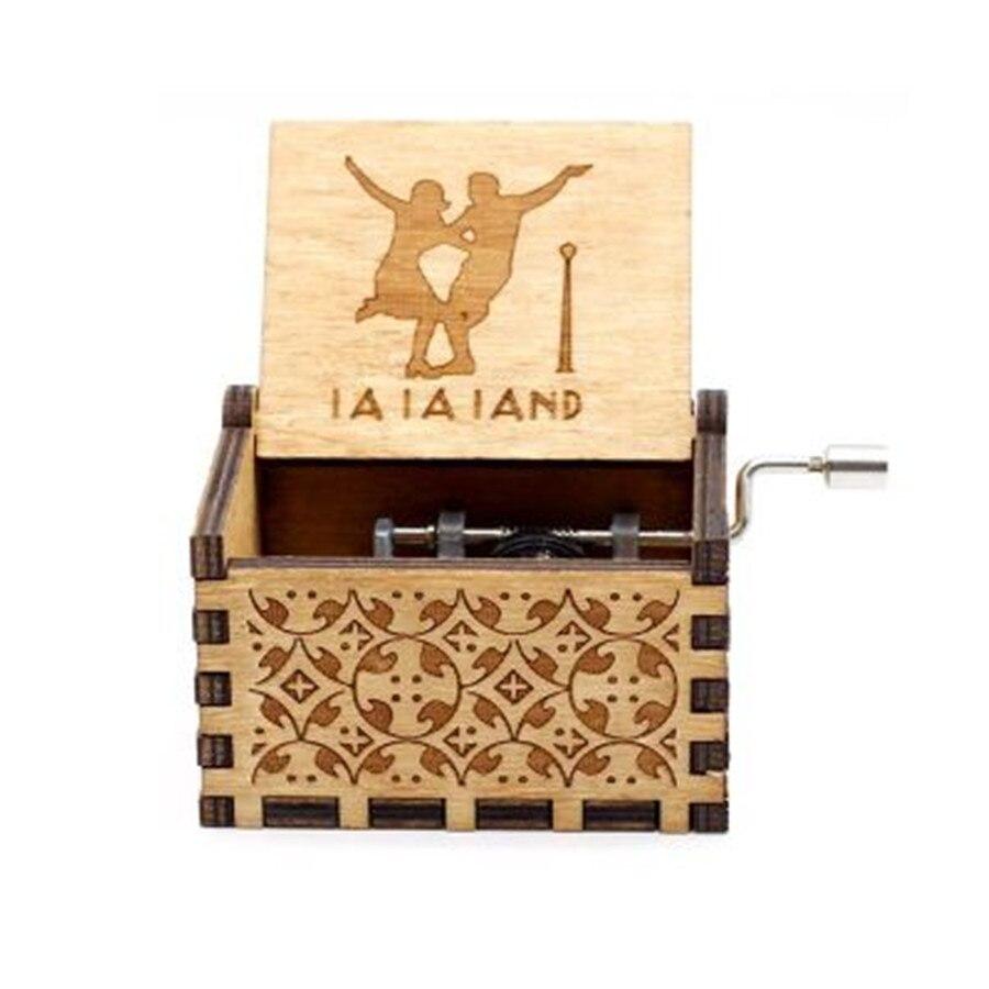 Новая музыкальная шкатулка QUEEN LOVE DAD And LOVE MAM My Sun музыкальная старинная резная деревянная рукоятка мама и подарки для папы подарок на день рождения - Цвет: La la land