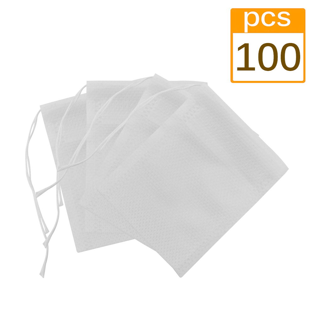 100 Pcs Lot Disposable Tea Bags Empty Scented Tea Bag With String Heal Seal Filter Paper For Herb Loose Tea