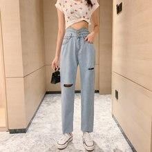 Детские джинсы с девятью точками летние свободные стильный облегающий