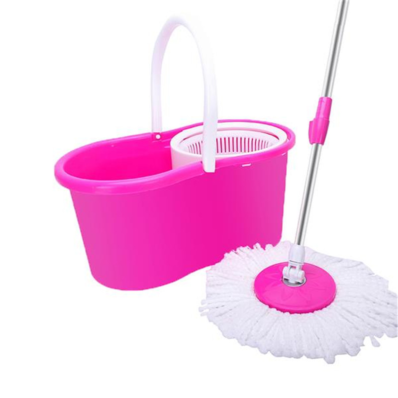 Fiber Spinning 360 Spin Mop Set with Plastic Bucket Floor Cleaning Mops Broom For Home Kitchen Floors House Cleaning Tools