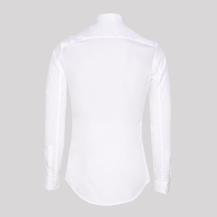 สไตล์เกาหลีต้นไม้เย็บปักถักร้อยแขนยาวสีขาวเสื้อฤดูใบไม้ร่วงฤดูใบไม้ผลิ Slim Fit ธุรกิจงานแต่งงาน Turn Down Collar เสื้อ-ใน เสื้อเชิ้ตออกงาน จาก เสื้อผ้าผู้ชาย บน   3