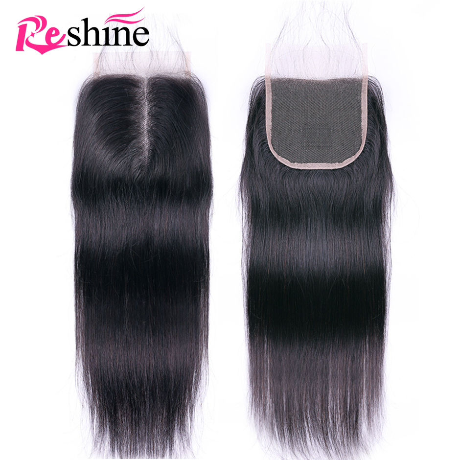 4x4 Lace Closure Brazilian Straight Human Hair Closure with Baby Hair Natural Color Remy Brazilian Lace Closure Free Part