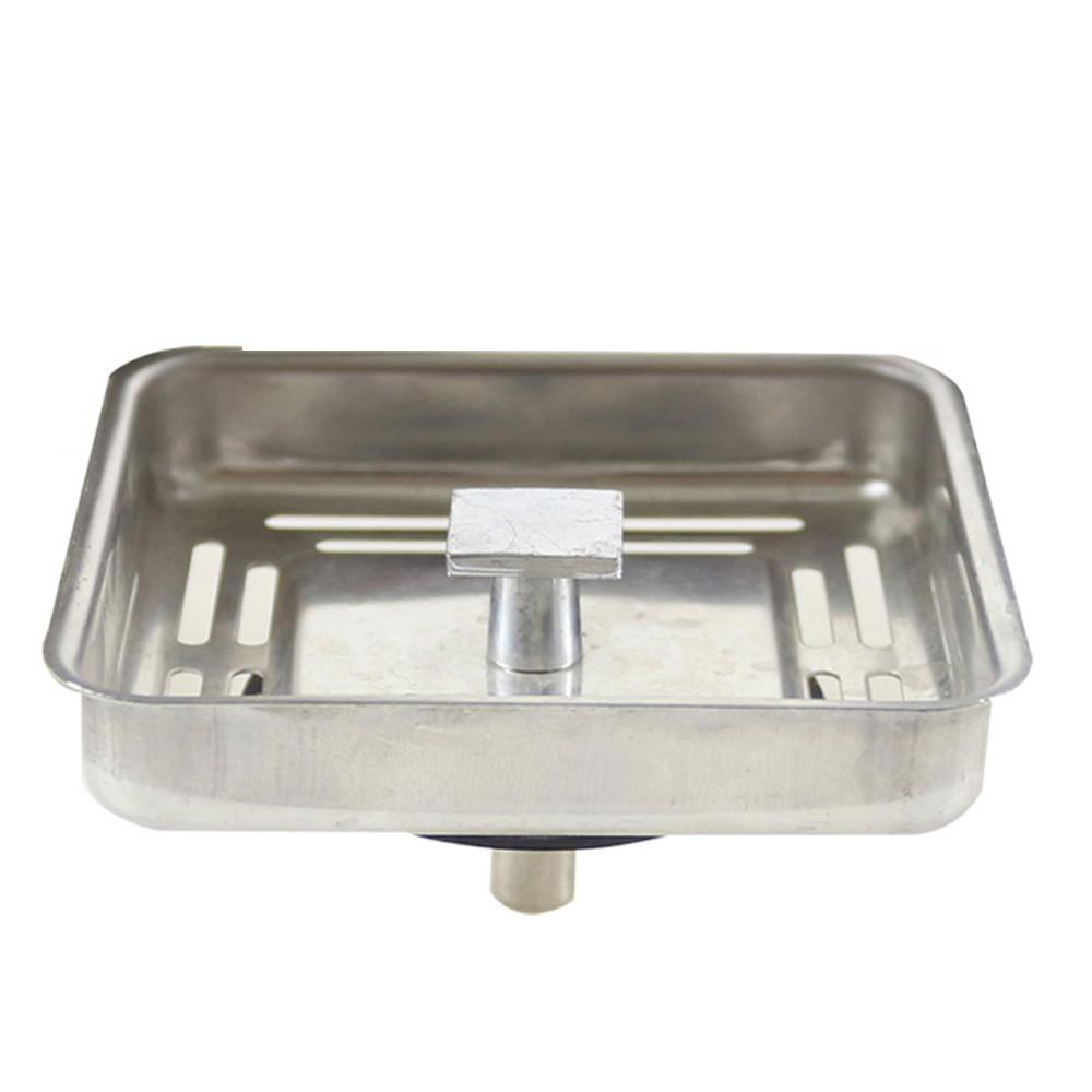 Talea Stainless Steel Square Sink Drain Strainer Plug 78*78mm'