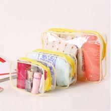 Transparent PVC Cosmetic Bags Women Clear Zipper Makeup Storage Bags Organizer Bath Wash Make Up Tote Handbags Case