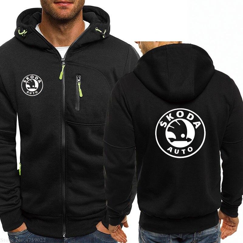 Herbst winter frühling hoodie für mann skoda auto sweatshirt männer tragen zipper mantel mode 12 stil jacken
