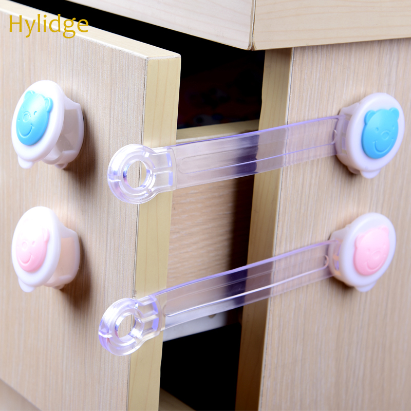 Hylidge <font><b>Baby</b></font> Safety Cabinet Lock Strap Toddler Kids Safety Lock Child Protection Wardrobe Safety Lock Children <font><b>Proof</b></font> Blocker image