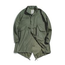2020 New men's retro M51 fishtail trench coat autumn and winter oversized loose warm collar collar