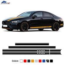 Боковые полосы юбка наклейка издание AMG капот крыша наклейка на багажник для Mercedes Benz CLA 45 35 C117 W117 X117 C118 X118 аксессуары