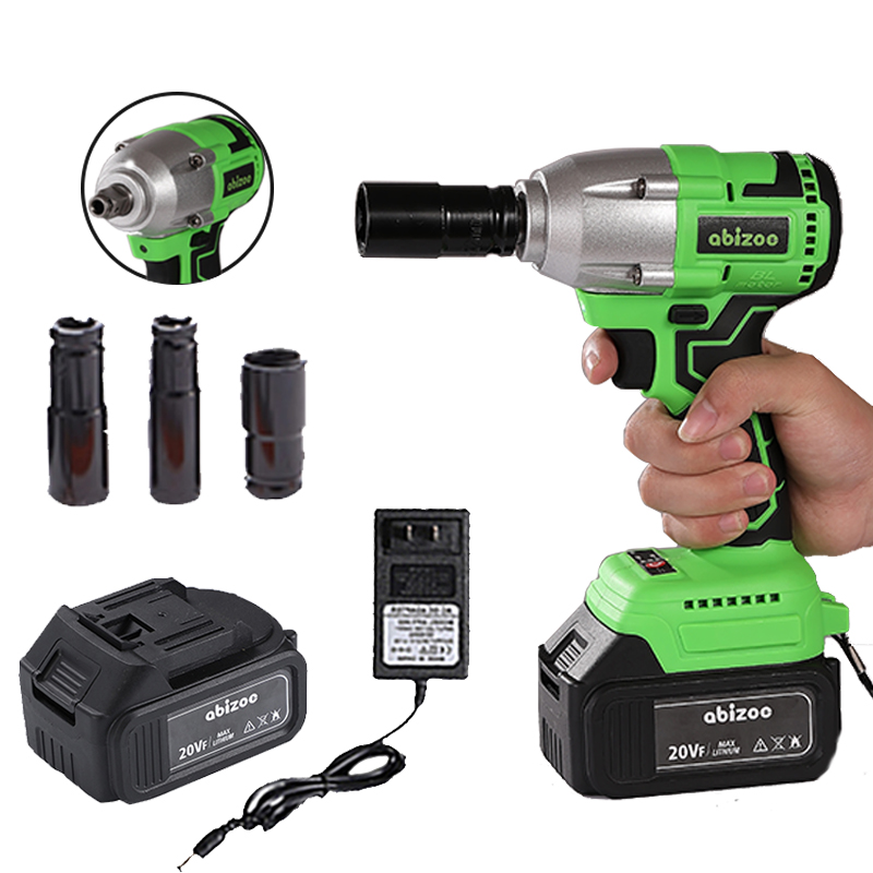 Brushless Wrench Socket 4000mAh Li-ion Battery 20V Brushless Cordless Electric Impact Wrench 1/2 inch Wrench Power Tools