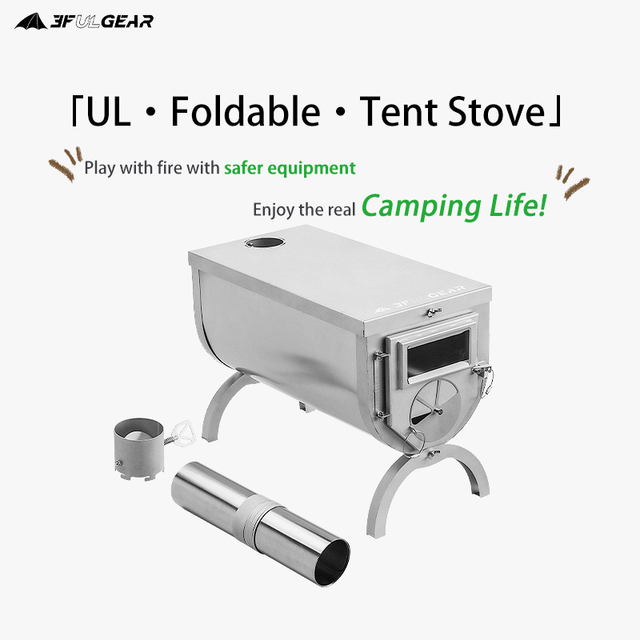 3F UL GEAR 304 Stainless heating stove wood stove Hot tent 3