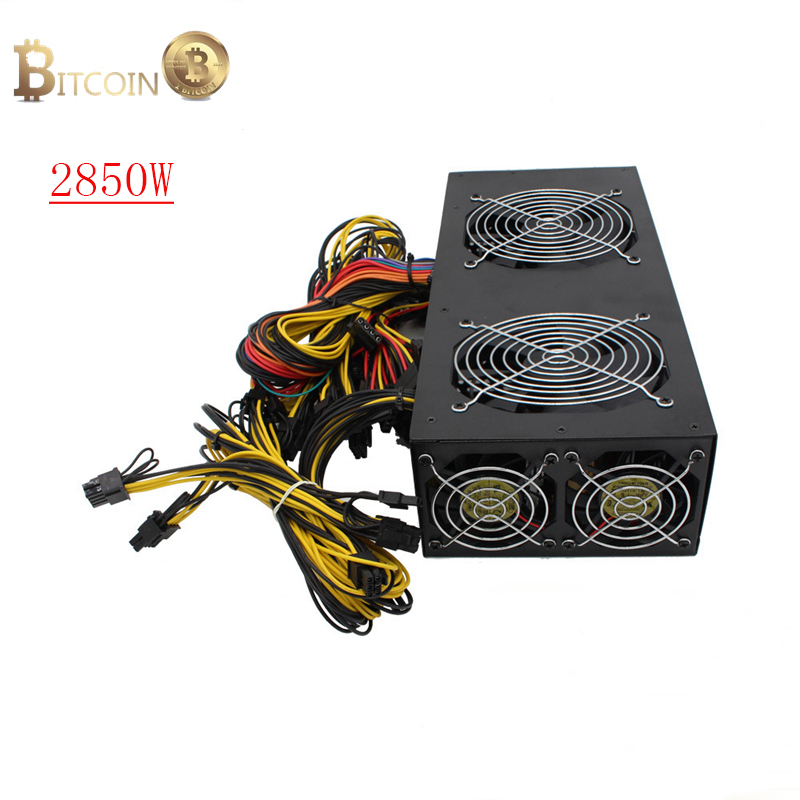 GPU Mining Machine Power Supply 2850W Ethereum Bitcoin Monroe Miner Source For Graphics Card rx470 480 570 580 gtx1060 1080 A image