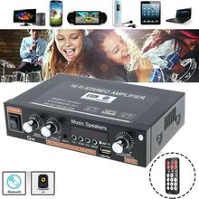 EU 12V/220V 800W 2 CH bluetooth Mini HiFi Stereo Amplifier Amplifier Stereo SD Home