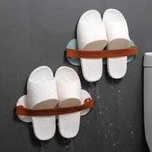 Настенные Висячие тапки стойка простая экономия пространства клейкая обувь Органайзер стойка для ванной комнаты полка аксессуары