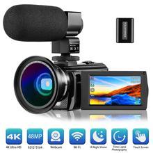 Videosky 4k Video Camera Camcorder 48MP Wifi HD Night Vision