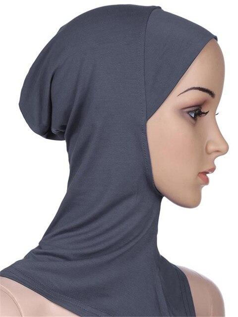 Gorros deportivos musulmanes para niñas, Hijab, para interiores, Islamic, suaves, elásticos, bajo la bufanda, sombreros, estilo clásico cruzado, venta al por mayor