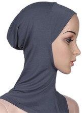 Müslüman kadınlar kızlar spor iç başörtüsü kapaklar İslami yumuşak streç Underscarf şapka Crossover klasik tarzı toptan