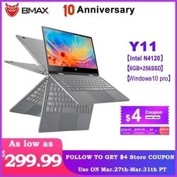 BMAX Y11 Computer Portatile Da 11.6 Pollici Quad Core Intel N4120 1920*1080 IPS Dello Schermo di 8GB LPDDR4 di RAM 256GB SSD ROM Notebook Windows10