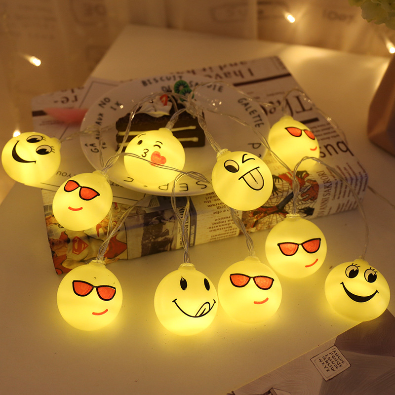 3M 20LED Emoji Emotion LED String Lights Waterproof Indoor Outdoor Christmas Garlands For Party Wedding Holiday Decoration