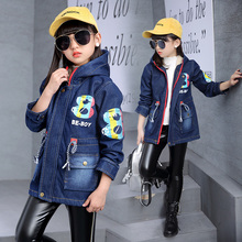 Boys Girls Jeans Jacket 2019 Winter Toddler Denim Fleece Jacket Kids Hooded Coats Children Outfit Clothes  4 5 6 7 8 9 10 Years girls sport jacket suit winter autumn fall outfit jersey suit costumes teens jacket for kids age 4 5 6 7 8 9 10 11 12t years old