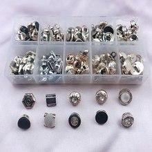 HL 9-12mm 10 Styles différents 1 boîte 100 pièces placage boutons tige bricolage vêtements accessoires de couture