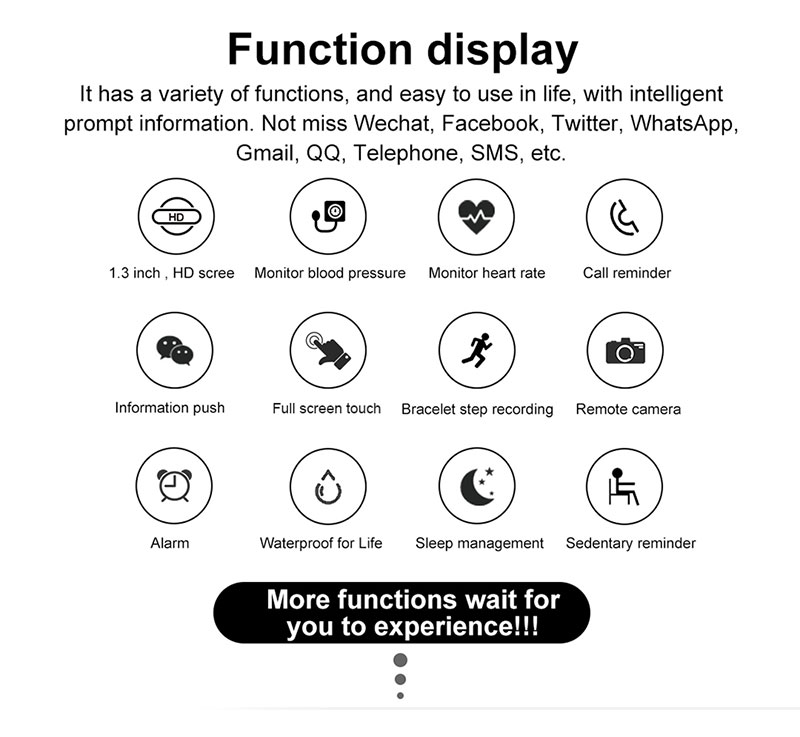 Haf37704a7374462b94529d7573e94674P 2020 Full Touch Smart Watch Heart Rate Fiteness Tracker Blood Pressure