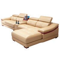 sofa combination imported leather sofa combination large and small corner sofa furniture factory direct sales
