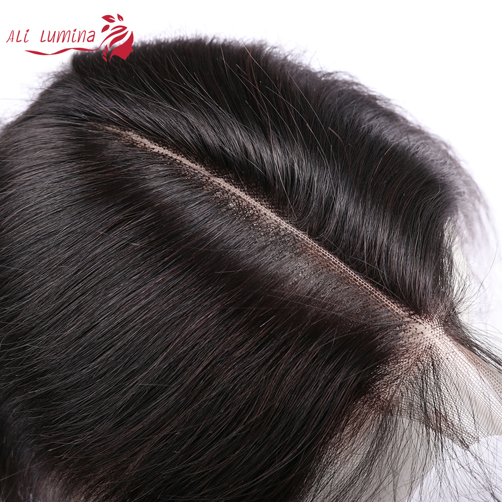 2X6 Closure Straight  Closure  Hair Lace Closure With Baby Hair Pre Plucked Bleached Knots  Natural Color 1