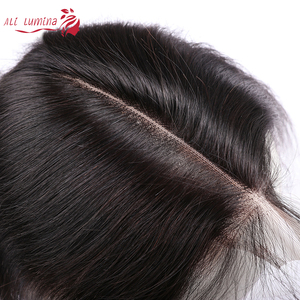 2X6 Closure Straight Human Hair Closure Peruvian Hair Lace Closure With Baby Hair Pre Plucked Bleached Knots Remy Natural Color