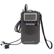항공기 fullband vhf 라디오 휴대용 fm am sw 라디오 vhf cb 30 223 mhz 25 28 mhz 듀얼 알람 시계와 공기 118 138 mhz