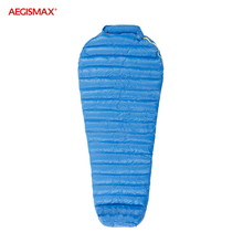 AEGISMAX M2 Ultralight 800FP 95% Goose Down Sleeping Bag Camping Mummy Type Splicing Outdoor Hiking 36℉~45℉ Warm Windproof