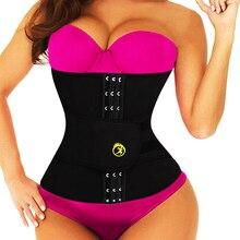 LAZAWG Mulheres Cintura Trimmer Cinto de Neoprene Quente Sauna Suor Ginásio Cinta Treino Cincher Tummy Controle Shaper Do Corpo Queima de Gordura Cinto
