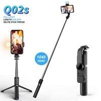Mini treppiede pieghevole senza fili bluetooth selfie stick FANGTUOSI con telecomando otturatore luce di riempimento per IOS Android