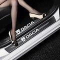 4 шт. двери автомобиля порог углеродного волокна накладка Стикеры для Dacia Duster Logan Dokker Lodgy Sandero и многое другое