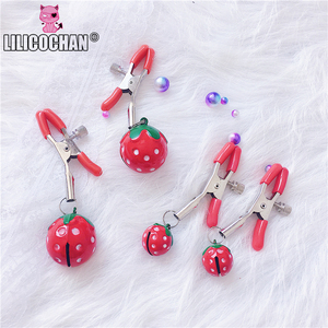 Image 5 - Handmade 1 Pair Adjustable Strawberry Nipple Clamps Clit Clamp Adult games Sex Toys for Couples Fetish Breast Labia Clips