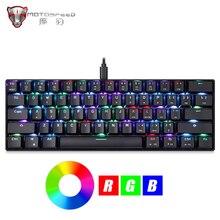 Motospeed CK61 Gaming Mechanische Tastatur 61 Tasten USB Verdrahtete RGB Led hintergrundbeleuchtung Tragbare Blau Schalter tastatur für Computer Gamer