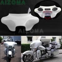 Detachable 6x9 Speakers Batwing Headlight Fairing For Harley Touring FLHR Road King EFI Custom FLHRS Classic FLHRC CVO Rescue