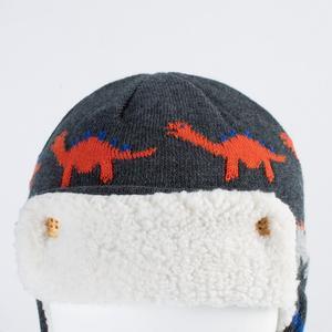 Image 4 - Connectyle  Toddler Infant Boys Girls Kids  Winter Skull Hat Cute Cartoon Cotton Fleece Lined Windproof Earflap Warm Hat