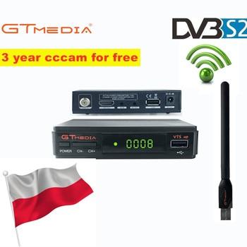 цена на V7S HD DVB-S2 N/S Europe America Digital Satellite Receiver TV Tuner Support Wifi HD Youtube IKS CS Cccam Newcam Power Vu Biss