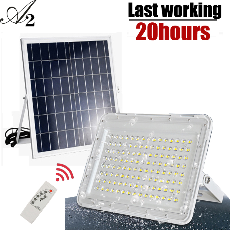 A2 Solar Light Super Bright 1000Lux Solar Lamp Flood Light 15000mA  Large Battery Outdoor Waterproof Garden Large Solar Panel