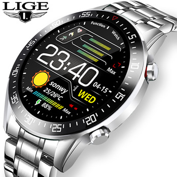 LIGE 2020 fashion Full circle touch screen Mens Smart Watches  IP68 Waterproof Sports Fitness Watch Luxury Smart Watch for men 1