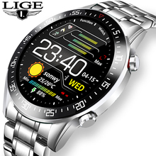 Fitness Watch Touch-Screen Ip68 Waterproof Sports Full-Circle Men Fashion Luxury LIGE