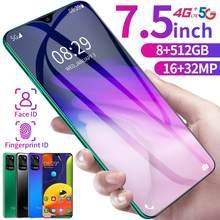 Globalna wersja 7.5 Cal S30U smartfony Android 10 twarz ID odcisku palca Snapdragon telefon 4G 5G telefon komórkowy 8GB 512GB telefon komórkowy