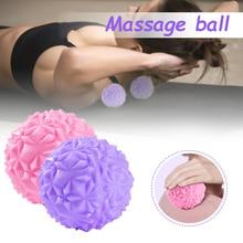 1 шт. ПВХ фасция мяч +массаж йога фитнес мяч снятие стресса пелота масаже стопа шипы мышцы массажер мяч стопа массаж мяч