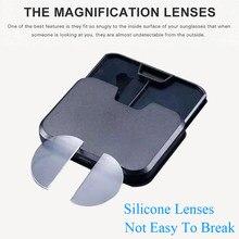 Lente de leitura bifocal de silicone líquido portátil 2 pces vara-em lentes presbiópicas ampliação lentes bifocais reutilizáveis 1.0 2.0 3.0