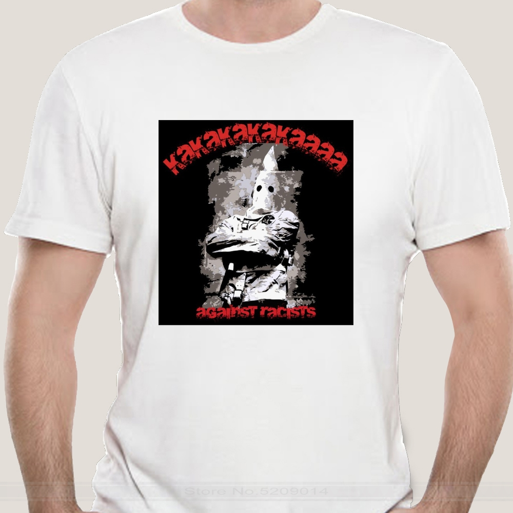 Hommes t-shirt kkk noir t-shirt anti-raciste t-shirts hommes marque teeshirt hommes été coton t-shirt