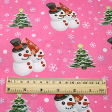 Snow-Tree-Print Cloth Tissue Fabric-Patchwork 100%Cotton for Puppet Garment Quilting-material/Doll/1yc12309