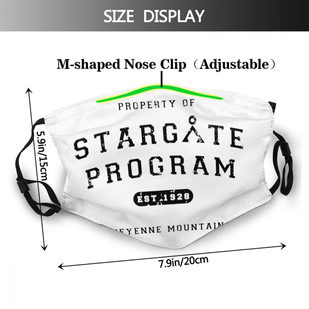 Stargate boca máscara facial propriedade do programa