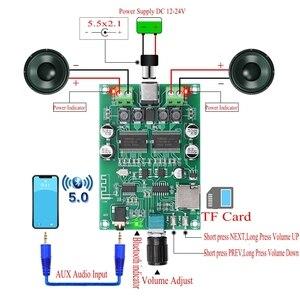 Image 1 - Беспроводная Bluetooth 5,0 аудио стерео цифровая плата усилителя искусственная двухканальная HD 20 Вт + 20 Вт AUX TF карта искусственная карта